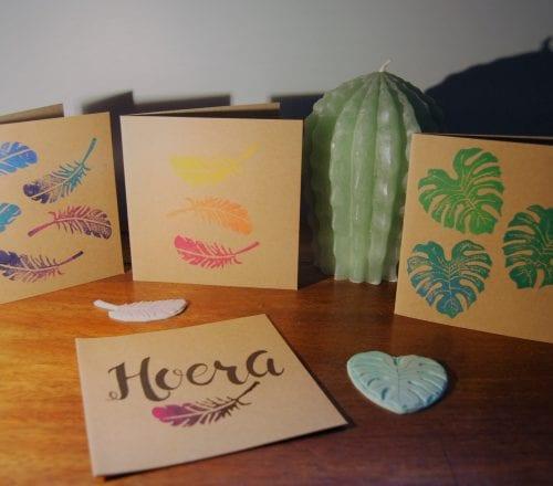 Workshop Linosnede kaarten stempelen