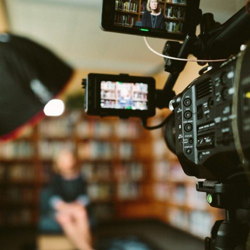 High Tech camera bibliotheek